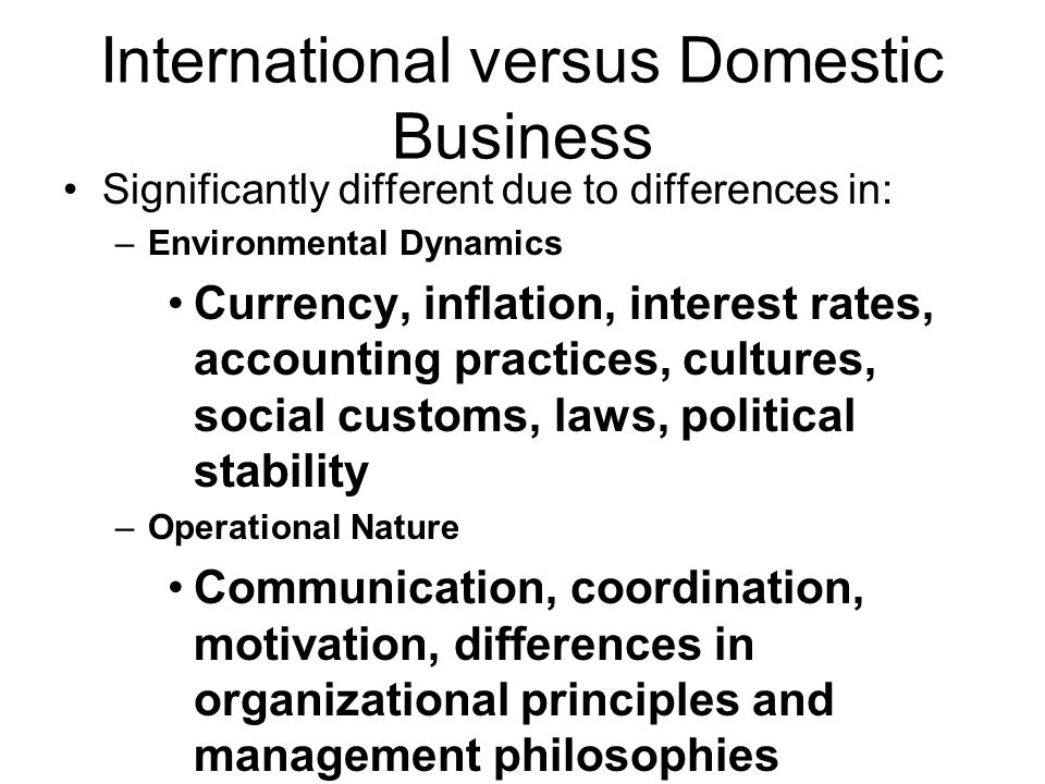 foreign vs domestic Form an llc domestic and foreign in this context refers to the state where the llc is created a company which is registered in michigan and which does business in michigan is operating as a domestic llc.