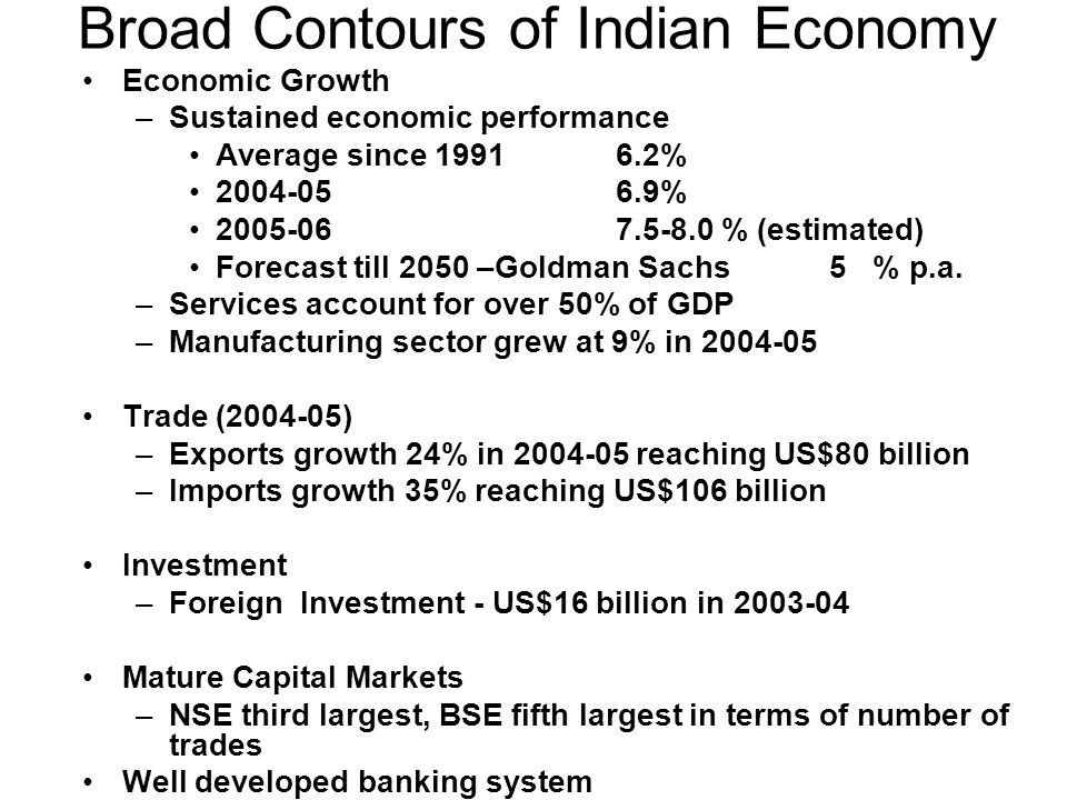 Broad Contours of Indian Economy