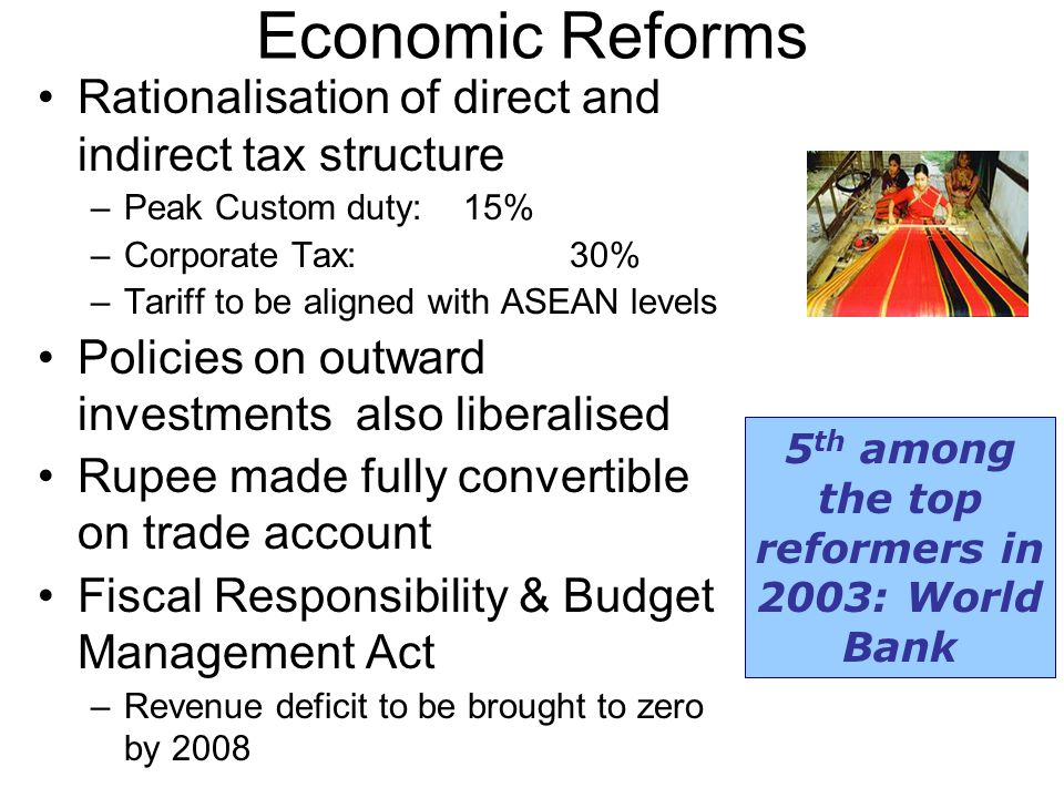 5th among the top reformers in 2003: World Bank