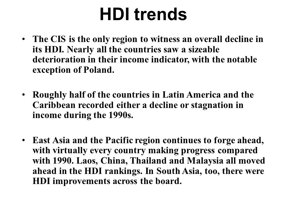 HDI trends