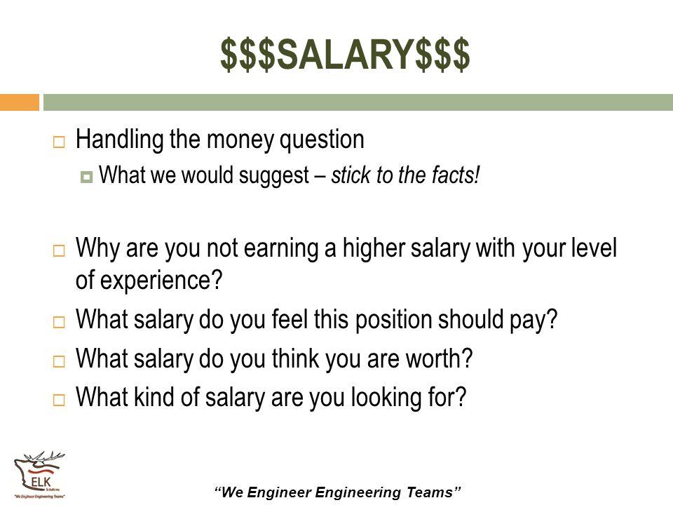 $$$SALARY$$$ Handling the money question