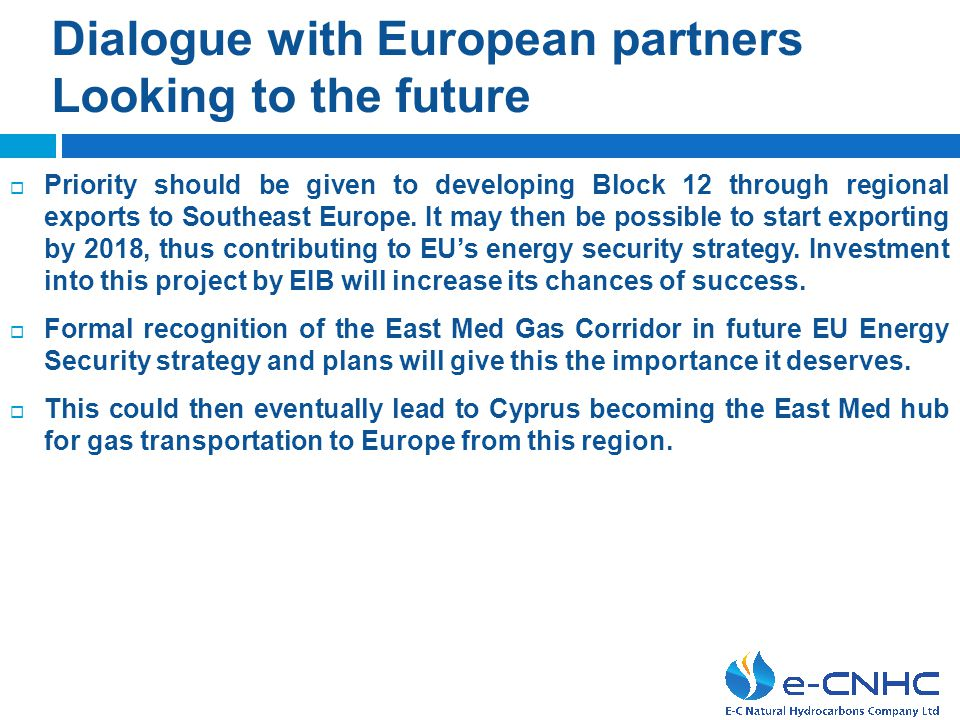 Dialogue with European partners Looking to the future