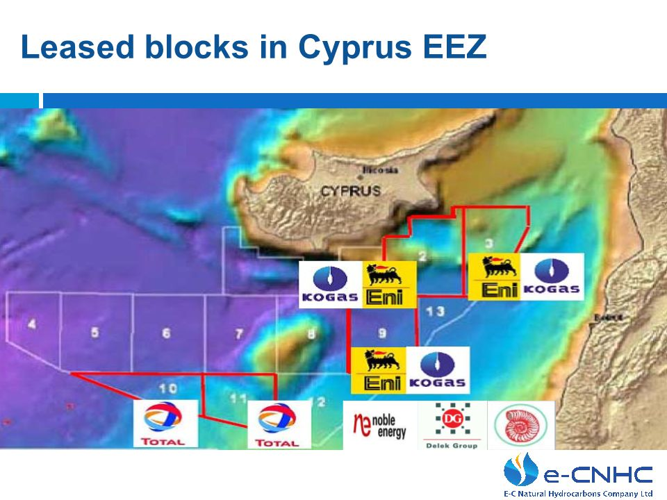 Leased blocks in Cyprus EEZ