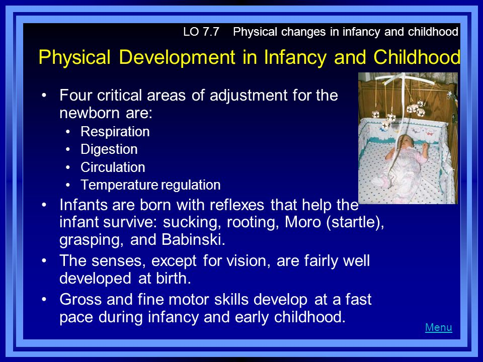Physical Development in Infancy and Childhood