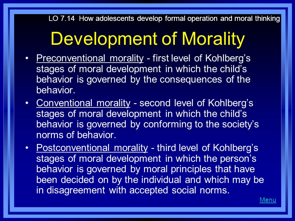 Development of Morality