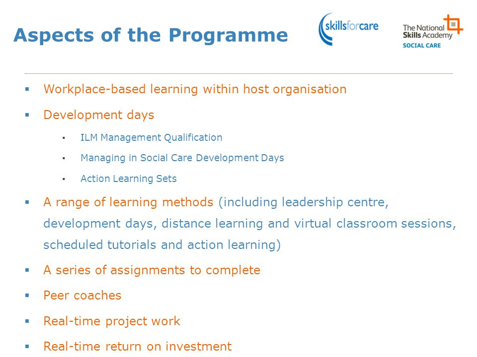 Aspects of the Programme