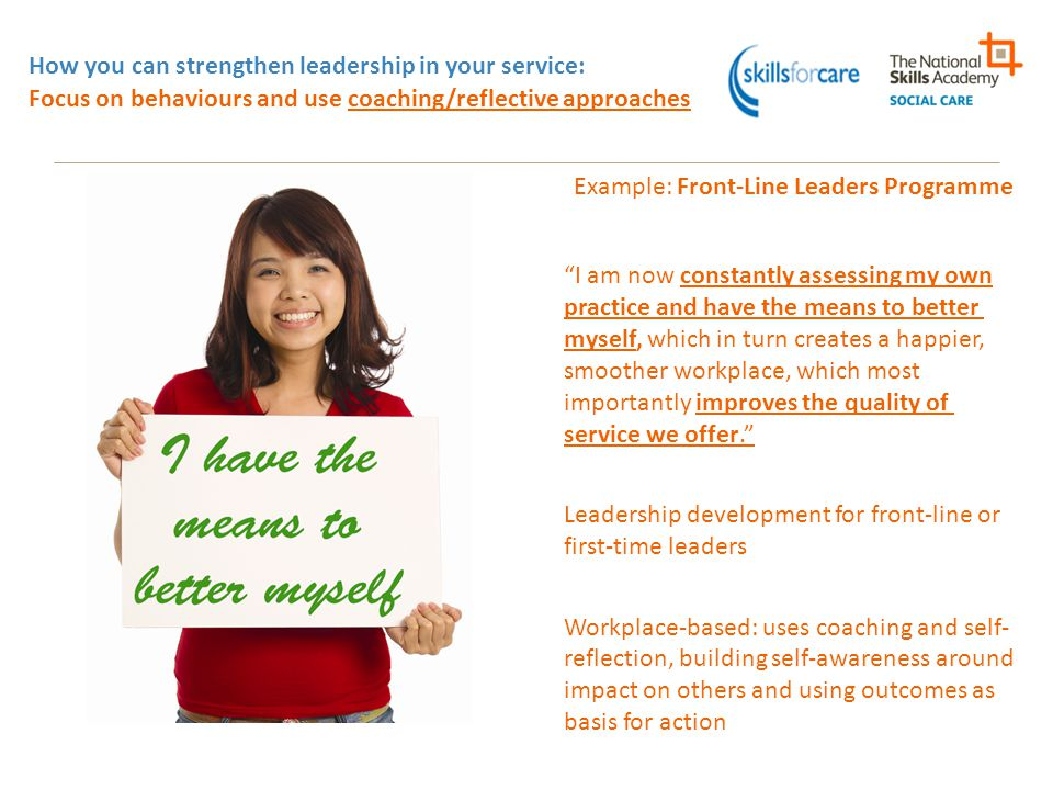 Example: Front-Line Leaders Programme
