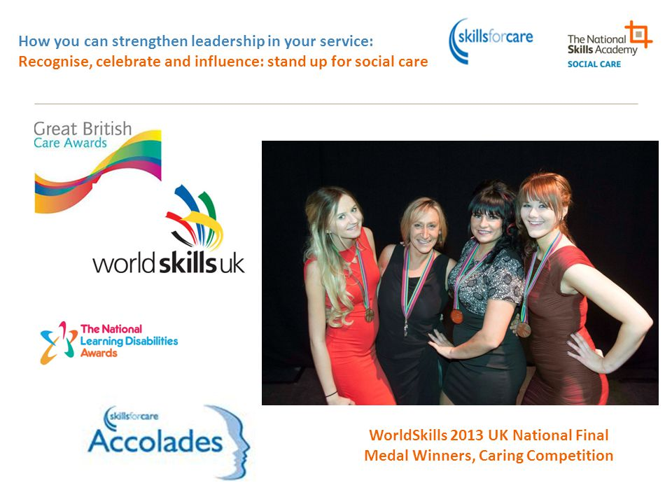 WorldSkills 2013 UK National Final Medal Winners, Caring Competition