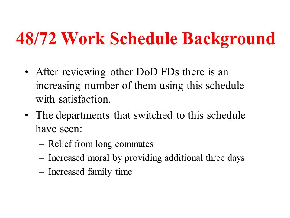 48/72 Work Schedule Background