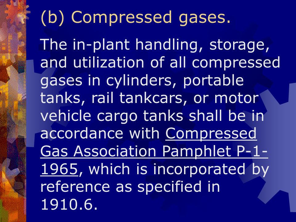 (b) Compressed gases.