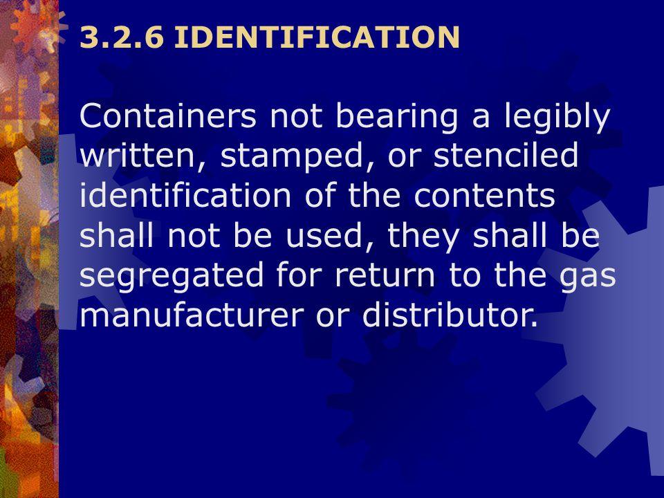 3.2.6 IDENTIFICATION