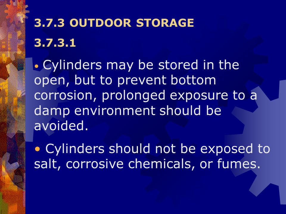 3.7.3 OUTDOOR STORAGE 3.7.3.1.