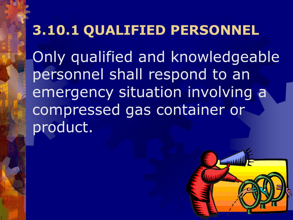 3.10.1 QUALIFIED PERSONNEL