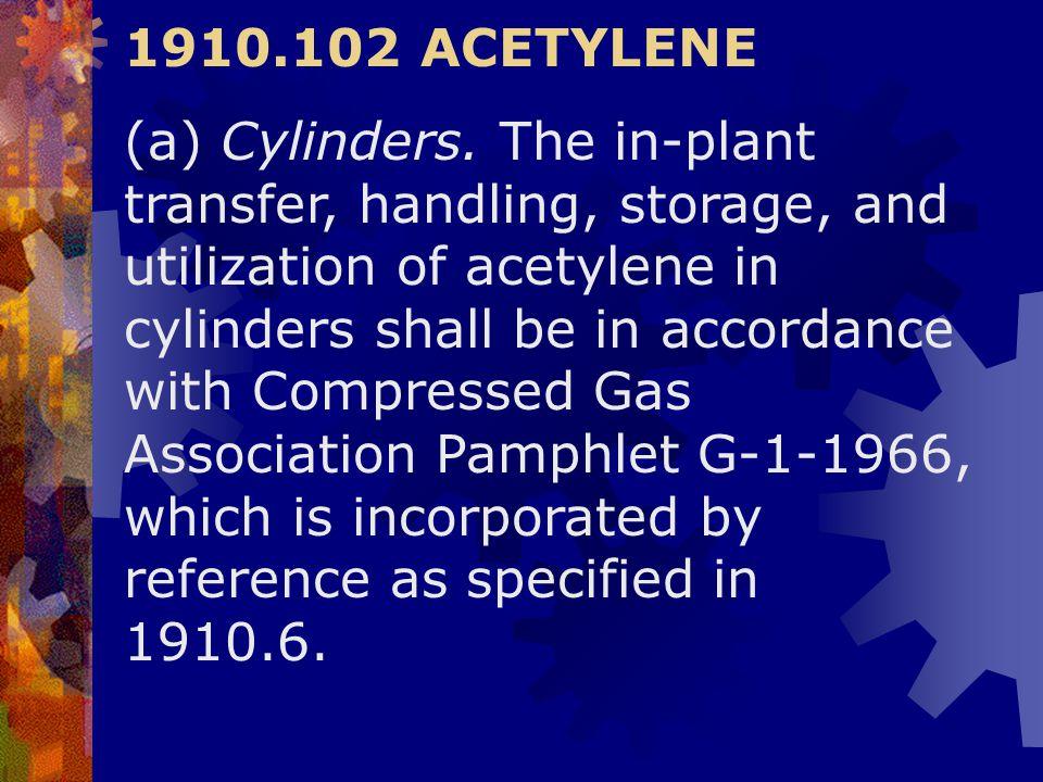 1910.102 ACETYLENE