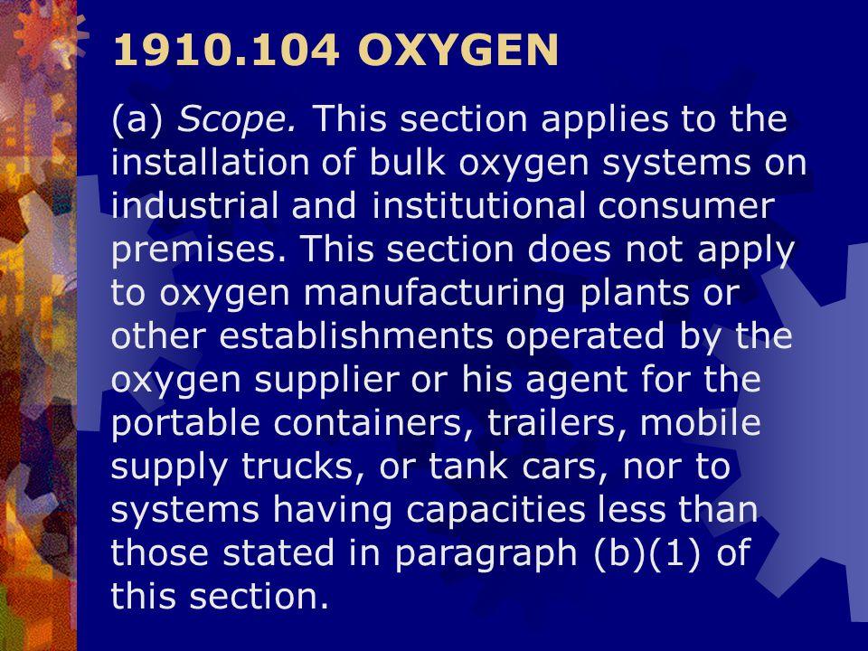 1910.104 OXYGEN