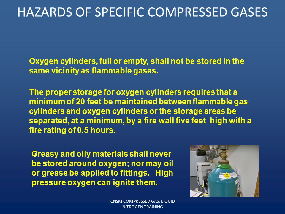 HAZARDS OF SPECIFIC COMPRESSED GASES