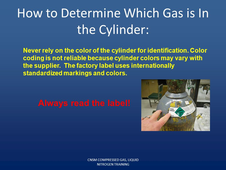 How to Determine Which Gas is In the Cylinder: