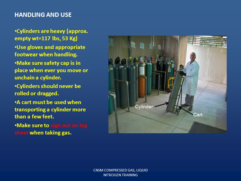 CNSM COMPRESSED GAS, LIQUID NITROGEN TRAINING