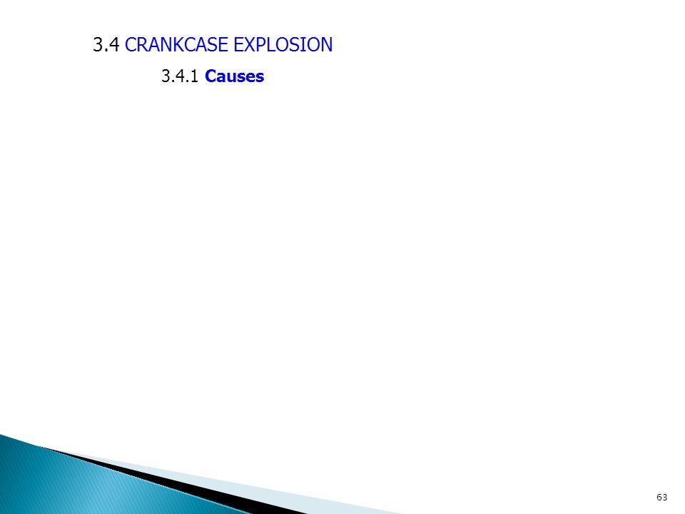 3.4 CRANKCASE EXPLOSION 3.4.1 Causes