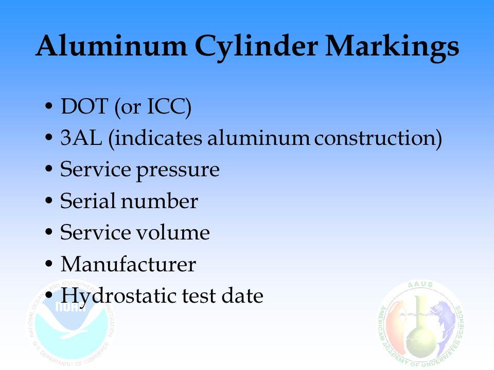 Aluminum Cylinder Markings