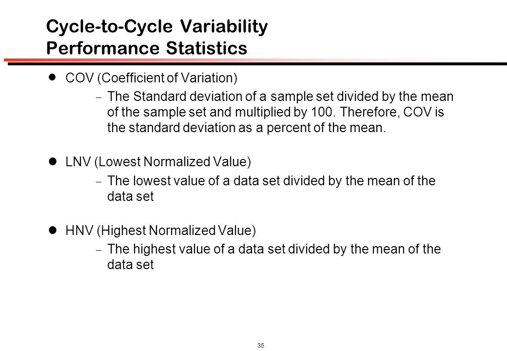 Cycle-to-Cycle Variability Performance Statistics
