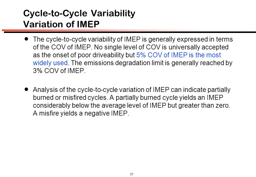 Cycle-to-Cycle Variability Variation of IMEP