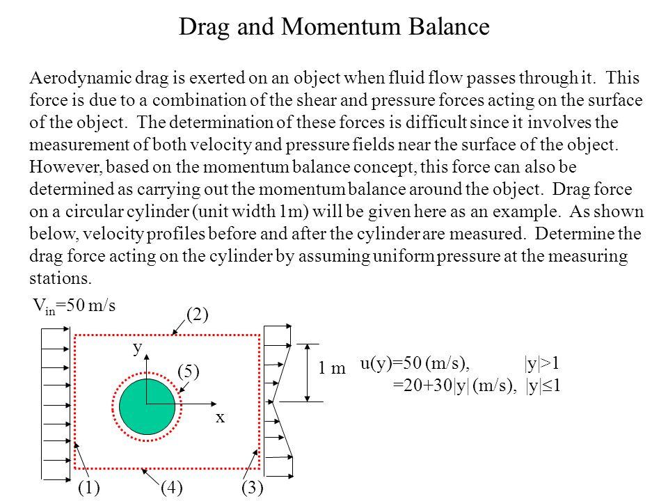 Drag and Momentum Balance