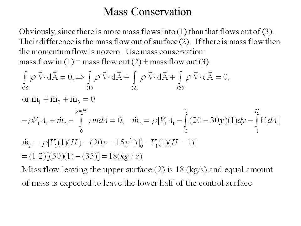 Mass Conservation
