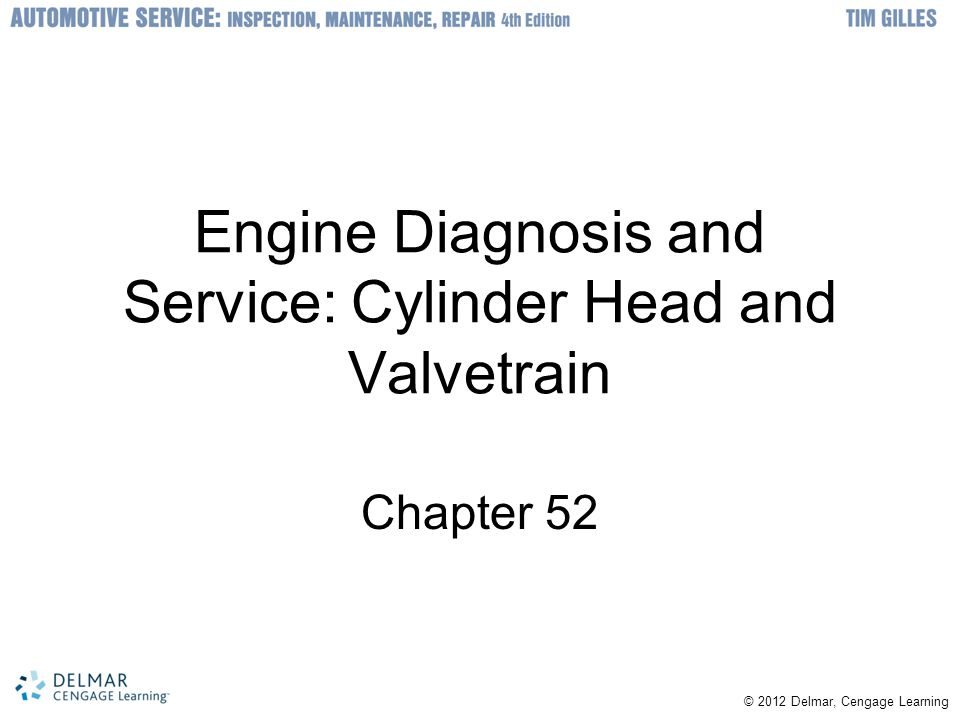 Engine Diagnosis and Service: Cylinder Head and Valvetrain