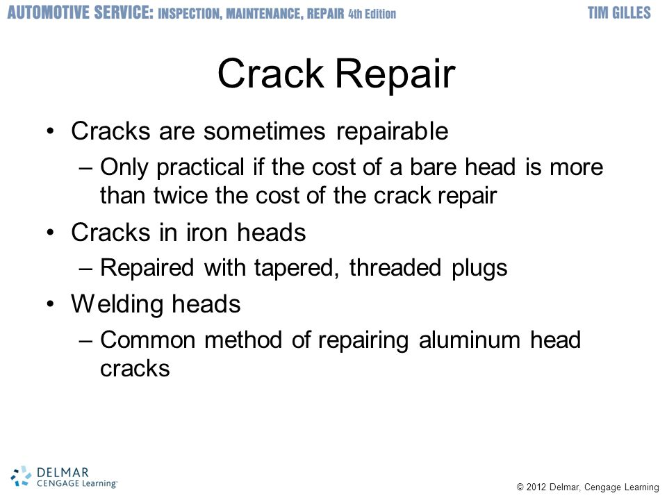Crack Repair Cracks are sometimes repairable Cracks in iron heads