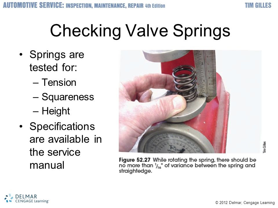 Checking Valve Springs