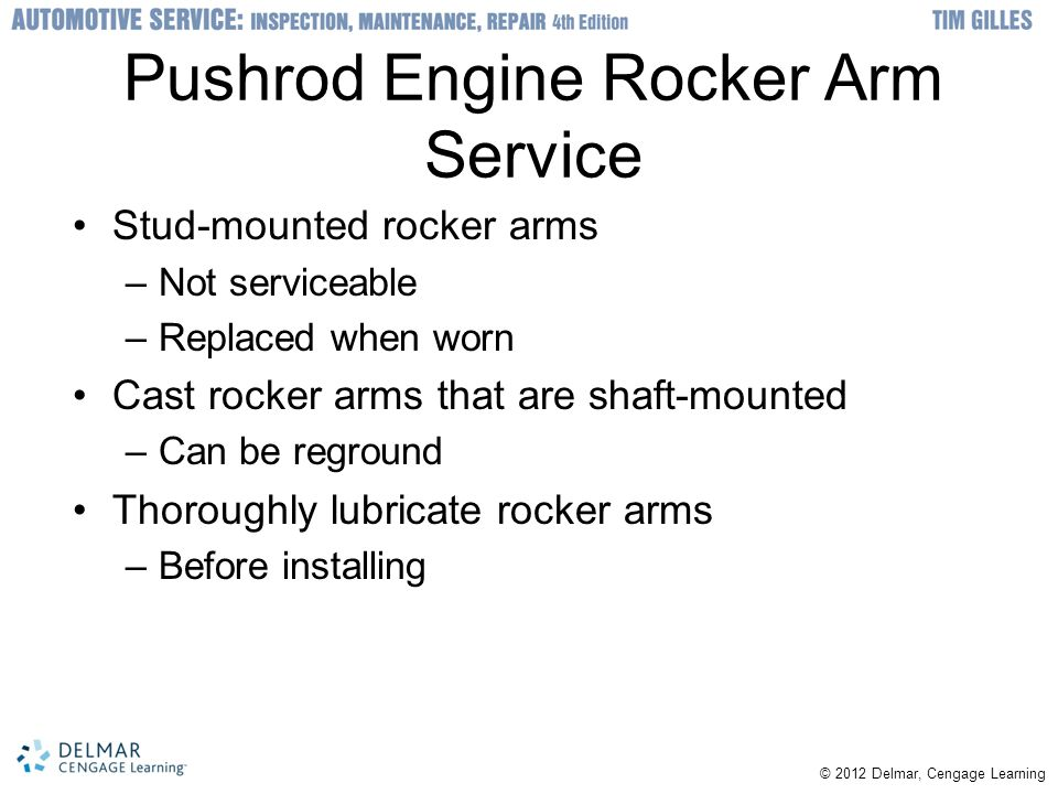 Pushrod Engine Rocker Arm Service