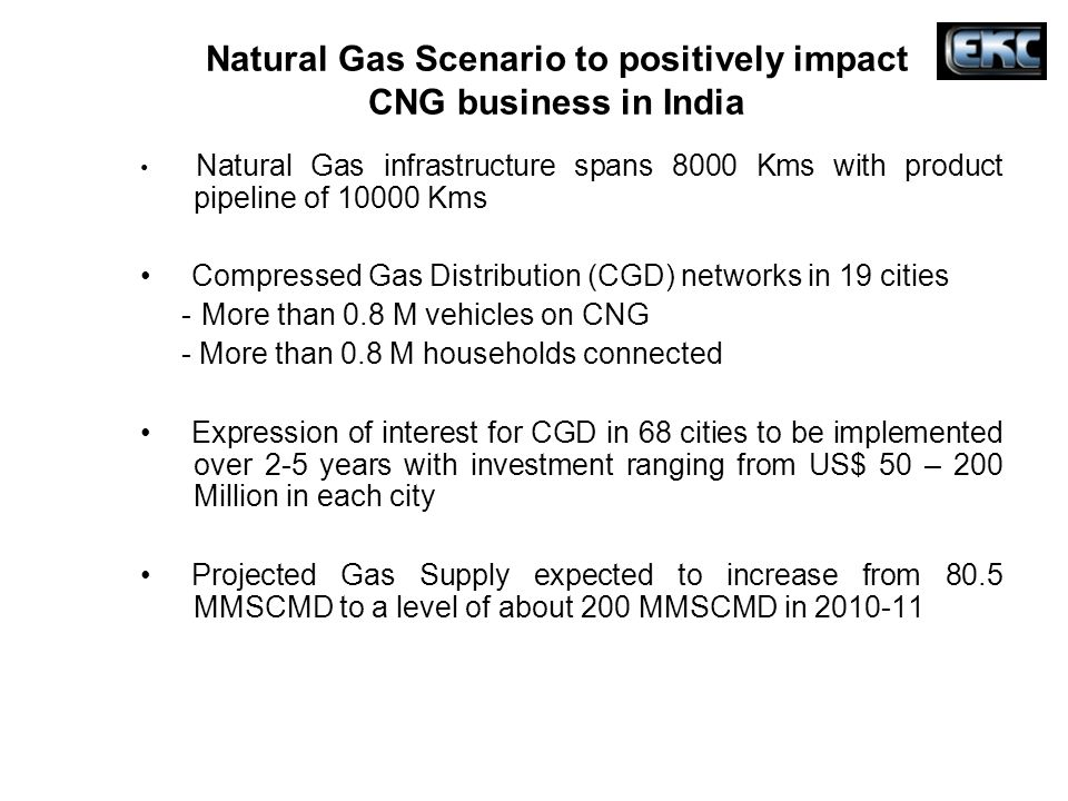 Natural Gas Scenario to positively impact CNG business in India