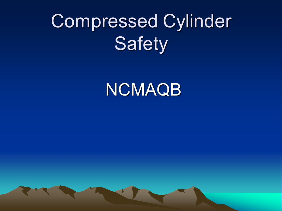 Compressed Cylinder Safety