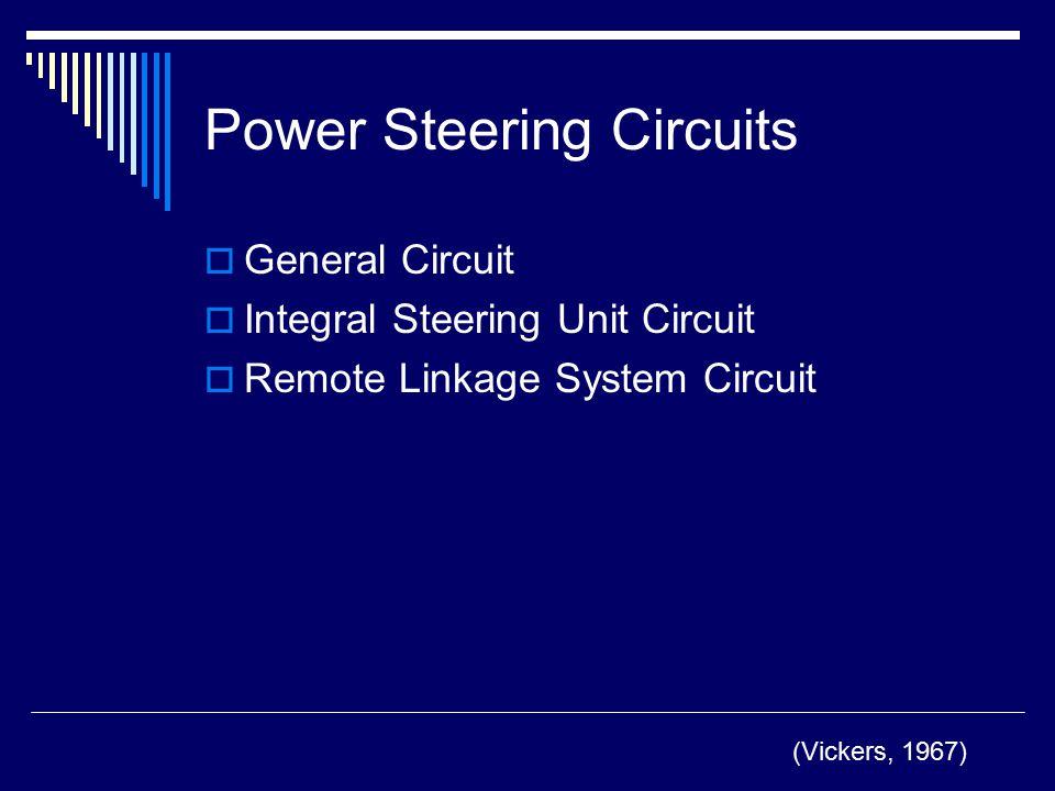 Power Steering Circuits