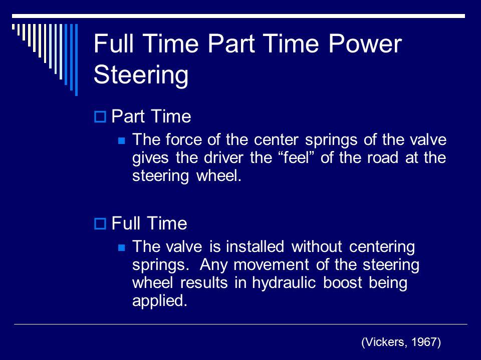 Full Time Part Time Power Steering