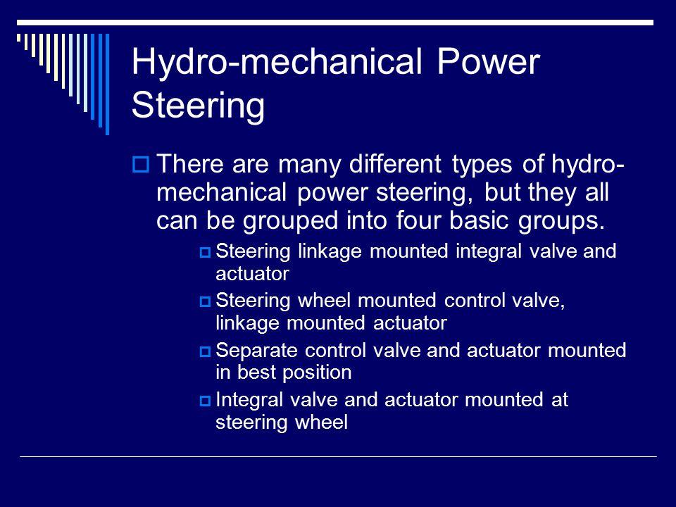 Hydro-mechanical Power Steering