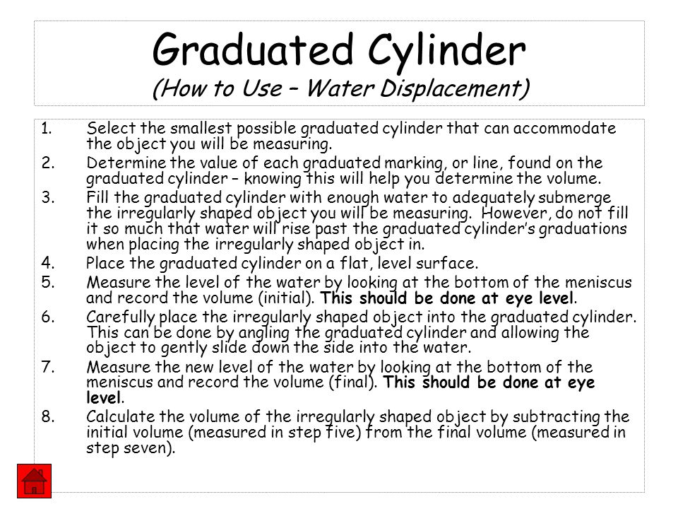 Graduated Cylinder (How to Use – Water Displacement)