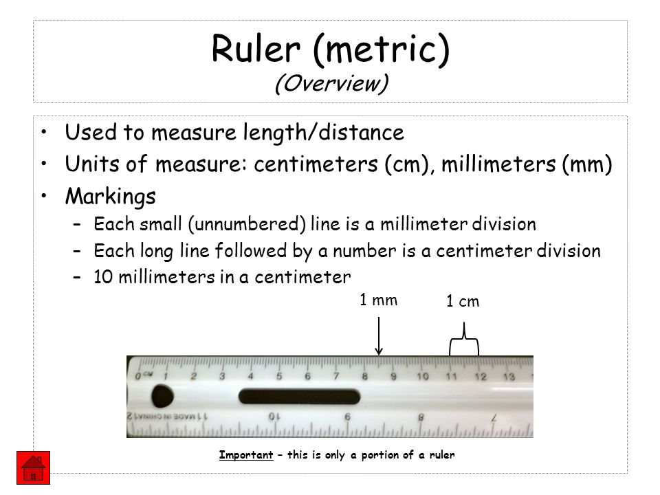 Ruler (metric) (Overview)