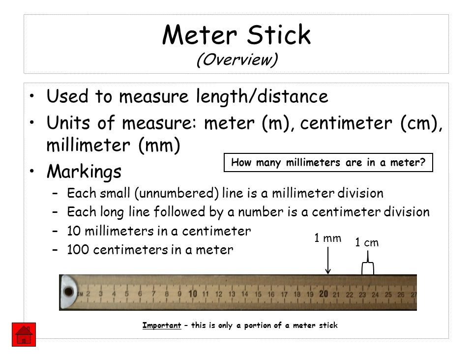 Meter Stick (Overview)