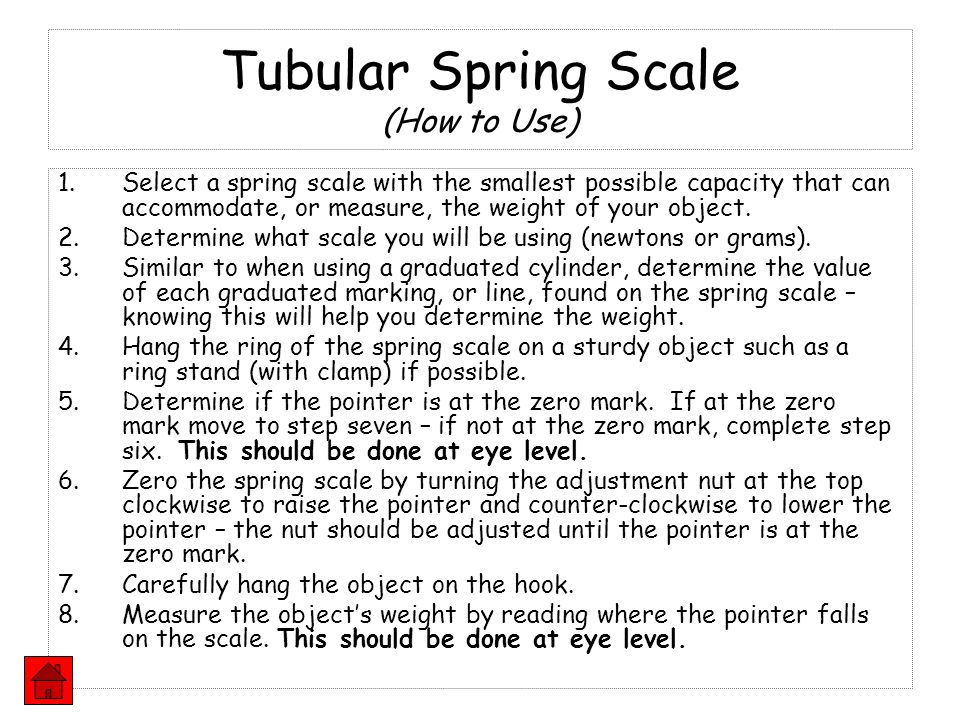 Tubular Spring Scale (How to Use)