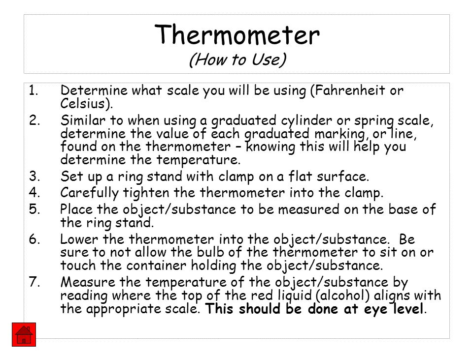 Thermometer (How to Use)