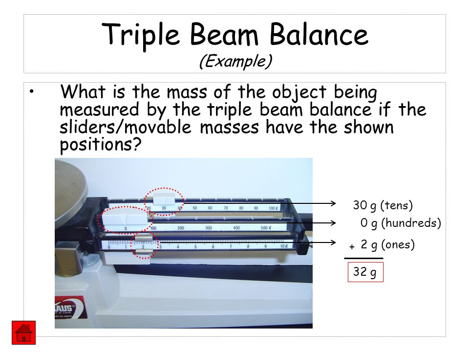 Triple Beam Balance (Example)