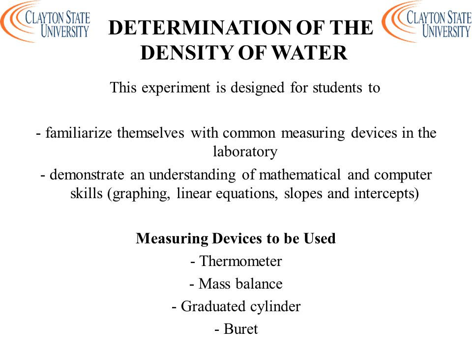 density equation chemistry. determination of the density water density equation chemistry