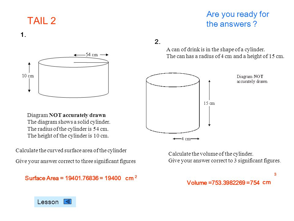 TAIL 2 Are you ready for the answers 1. 2. Lesson