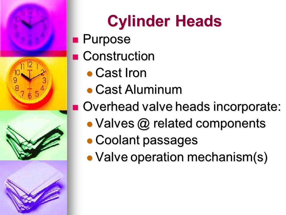 Cylinder Heads Purpose Construction Cast Iron Cast Aluminum