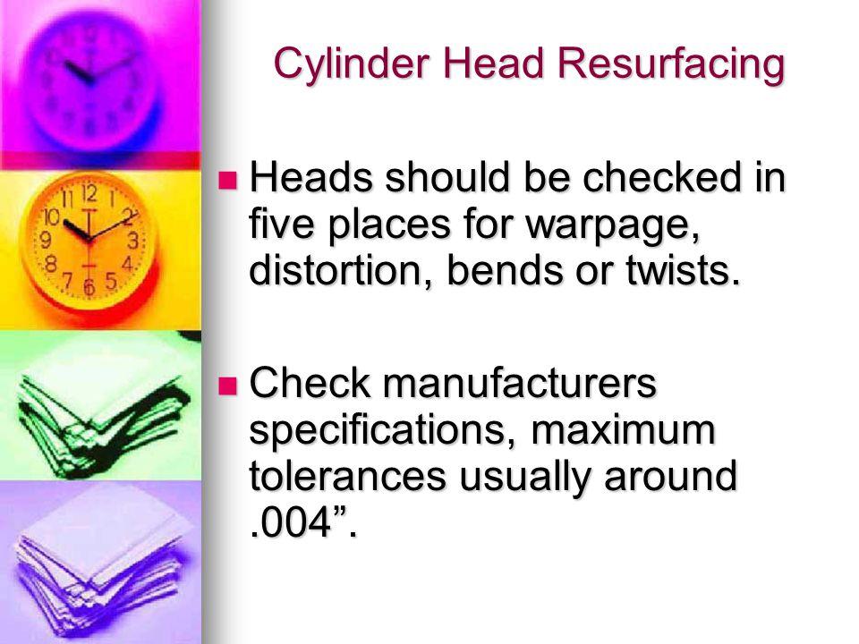 Cylinder Head Resurfacing