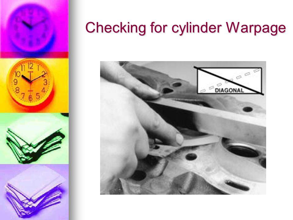 Checking for cylinder Warpage