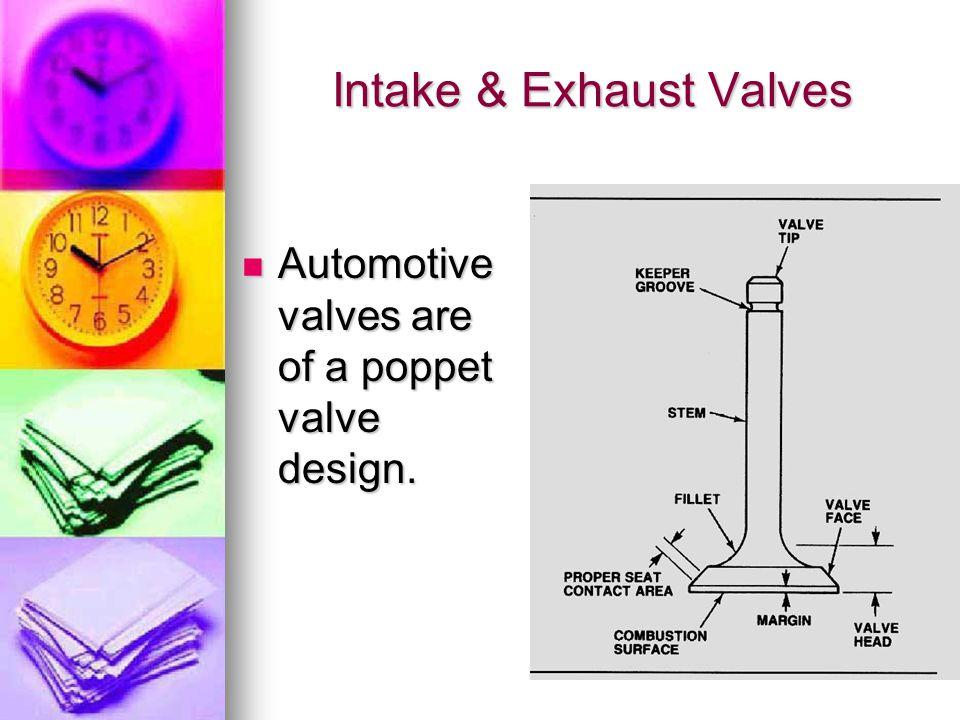 Intake & Exhaust Valves