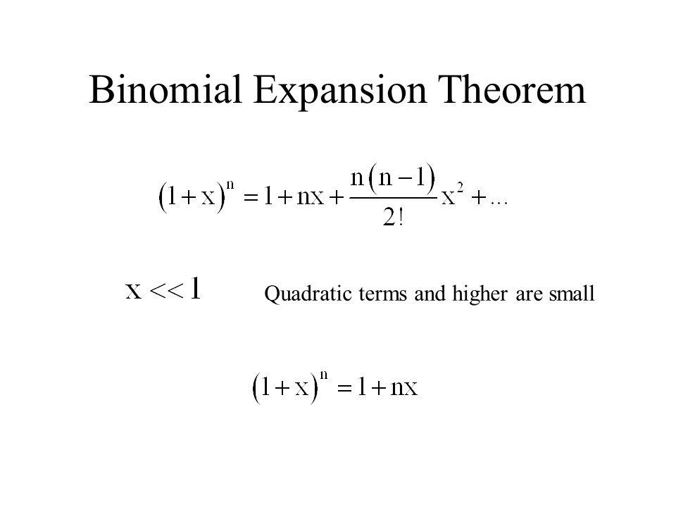 Binomial Expansion Theorem